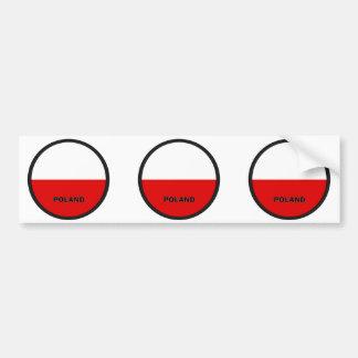 Poland Roundel quality Flag Car Bumper Sticker