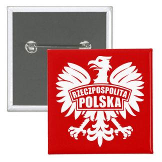 """Poland """"Rzeczpospolita Polska"""" Eagle Symbol Button"""