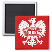 """Poland """"Rzeczpospolita Polska"""" Eagle Symbol Magnet"""