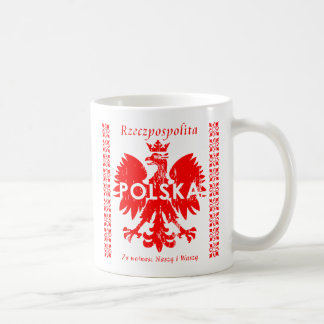 Poland Rzeczpospolita Polska Polish Eagle Classic White Coffee Mug