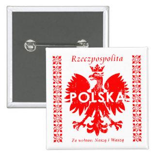 Poland Rzeczpospolita Polska Polish Eagle Emblem Button