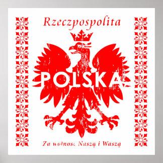 Poland Rzeczpospolita Polska Polish Eagle Emblem Print