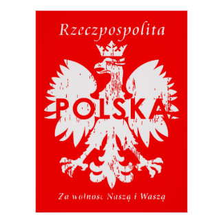 Poland Rzeczpospolita Polska Polish Eagle Emblem Poster