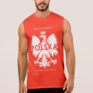 Poland Rzeczpospolita Polska Polish Eagle Symbol Sleeveless Shirt