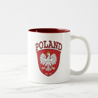 Poland Shield Two-Tone Coffee Mug