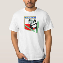 Men's Crew Value T-Shirt with Polish Ski-jumping Panda design