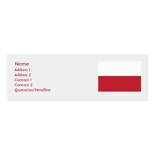 Poland Skinny Mini Business Card