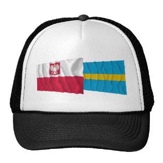Poland & Śląskie waving flags Trucker Hat