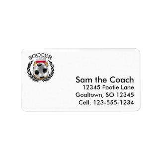 Poland Soccer 2016 Fan Gear Label