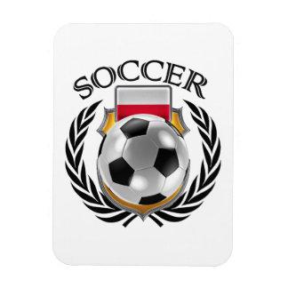 Poland Soccer 2016 Fan Gear Rectangular Photo Magnet