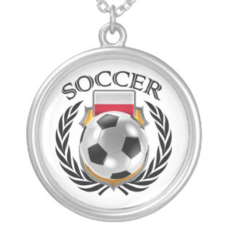 Poland Soccer 2016 Fan Gear Silver Plated Necklace