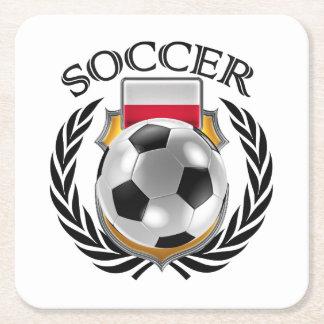 Poland Soccer 2016 Fan Gear Square Paper Coaster