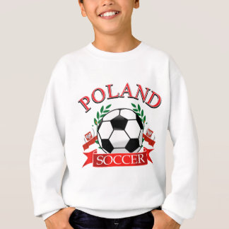 Poland soccer ball designs sweatshirt