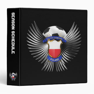 Poland Soccer Champions 3 Ring Binder