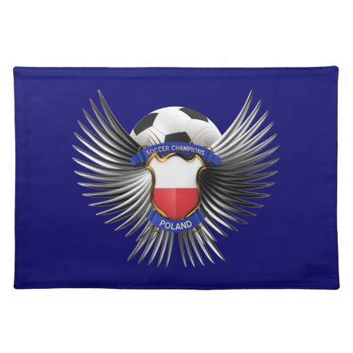 Poland Soccer Champions Cloth Place Mat