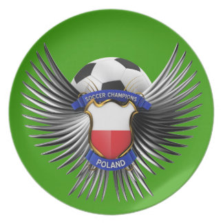 Poland Soccer Champions Dinner Plate