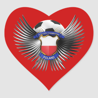 Poland Soccer Champions Heart Sticker
