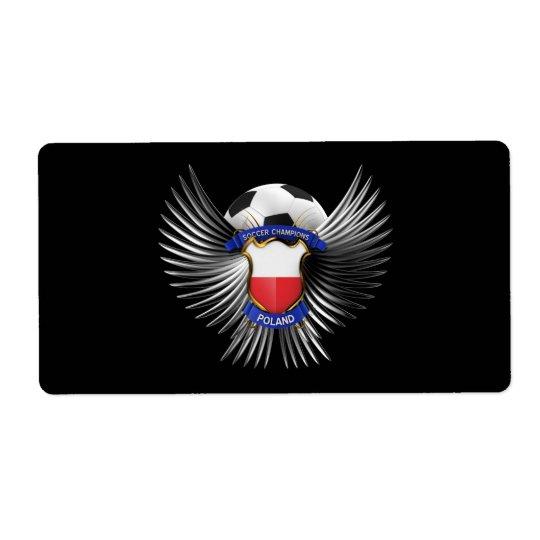 Poland Soccer Champions Label