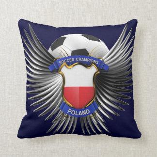 Poland Soccer Champions Throw Pillow