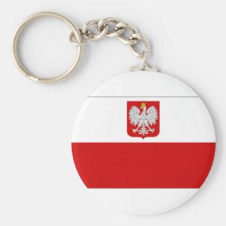 Poland State Flag amd Civil Ensign Keychain