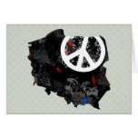 Poland Trendy Peace Sign with polish map Greeting Card