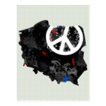 Poland Trendy Peace Sign with polish map Post Cards