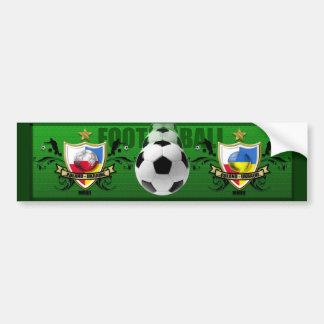 Poland Ukraine 2012 flag map football European Cup Bumper Sticker
