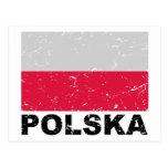 Poland Vintage Flag Postcards