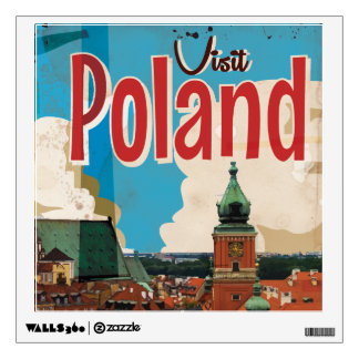 Poland Vintage Travel Poster Room Decal