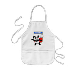 Kid's Apron with Polish Volleyball Panda design