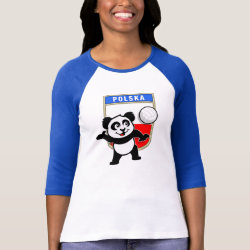 Ladies Raglan Fitted T-Shirt with Polish Volleyball Panda design