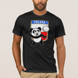 Men's Basic American Apparel T-Shirt with Polish Volleyball Panda design