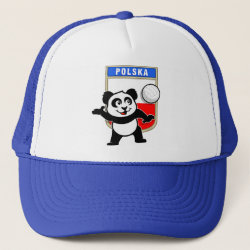 Trucker Hat with Polish Volleyball Panda design