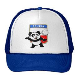 Trucker Hat with Polish Volleyball Panda design