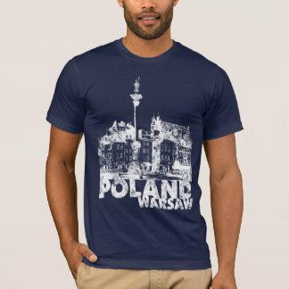 Poland Warsaw on dark T-Shirt