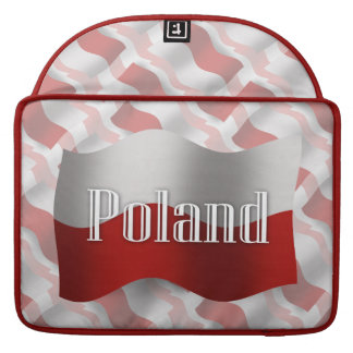 Poland Waving Flag Sleeves For MacBook Pro