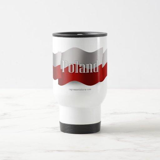 Poland Waving Flag Mugs
