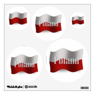 Poland Waving Flag Wall Decal