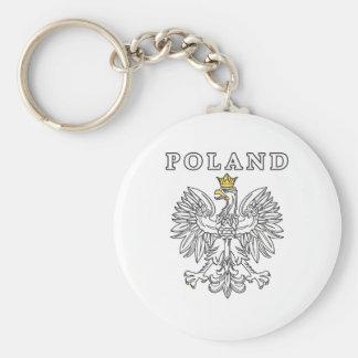 Poland With Polish Eagle Keychain