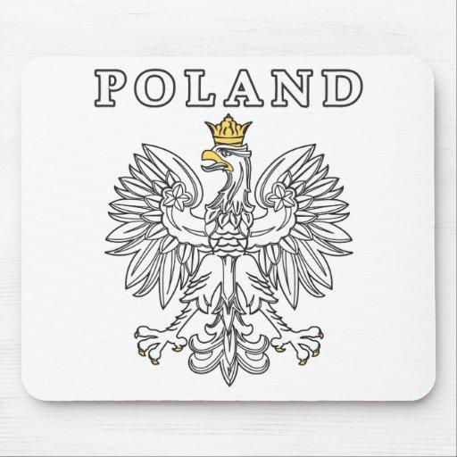 Poland With Polish Eagle Mouse Pads