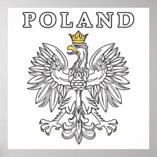 Poland With Polish Eagle Poster