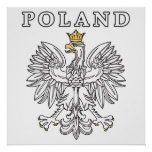 Poland With Polish Eagle Print