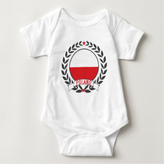Poland Wreath Baby Bodysuit