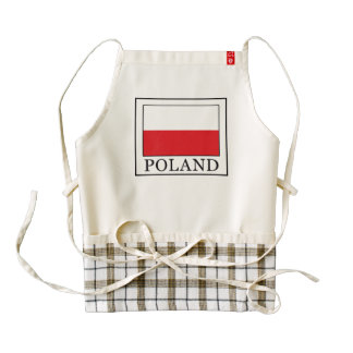 Poland Zazzle HEART Apron