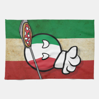Polandball - Italyball making pizza Hand Towel