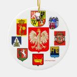 POLAND'S COATS OF ARMS JESCZE POLSKA NIE ZGINELA CHRISTMAS ORNAMENT