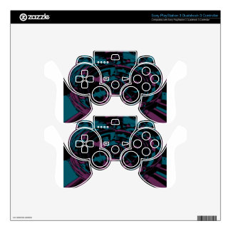 Polar Abstract -Blue and Purple Decal For PS3 Controller