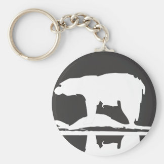 Polar Bear #1 Basic Round Button Keychain