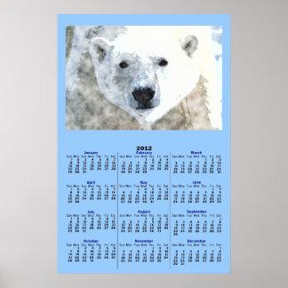POLAR BEAR 2012 Calendar Poster