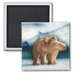 Polar Bear 2 Inch Square Magnet